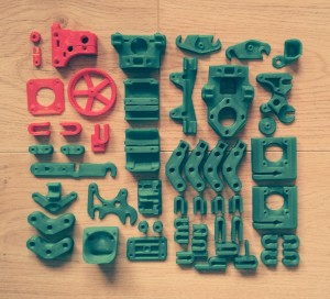 "All the parts arranged neatly (I say ""all"", what I mean is ""hopefully all"")"