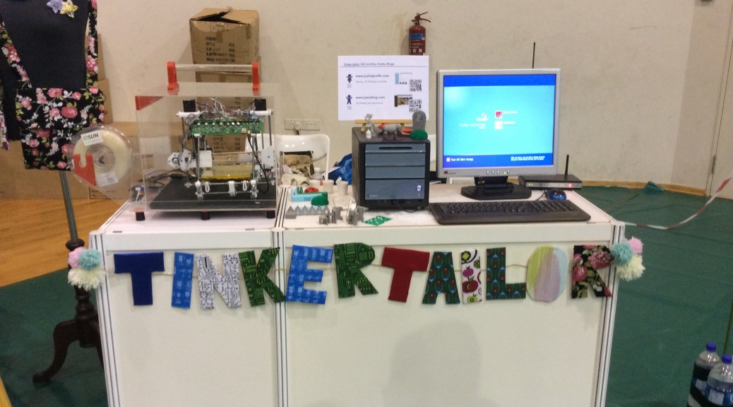Our booth at Singapore Mini Maker Faire