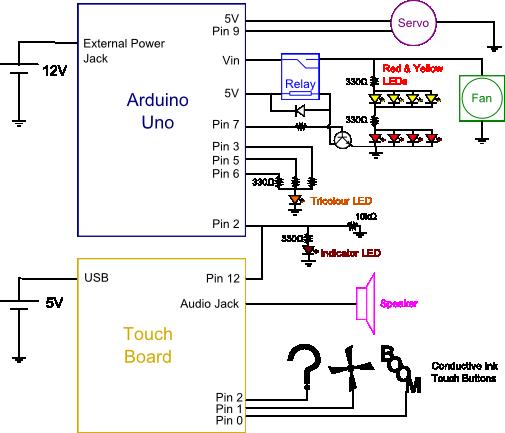 Circuit diagram for the zeppelin electronics